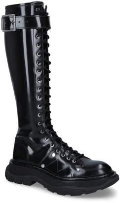 Alexander McQueen Tread High-Leg Boots