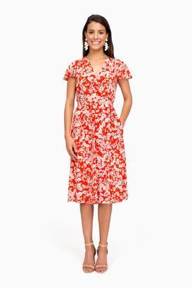 Rebecca Taylor Short Sleeve Cherry Blossom Dress $475 thestylecure.com