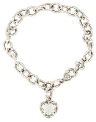 Judith Ripka Quartz Heart Charm Bracelet