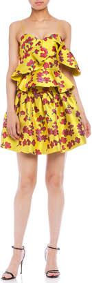 Alice + Olivia (アリス オリビア) - Alice + Olivia フラワージャカード サーキュラースカート イエロー 0