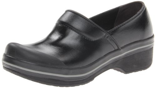 Dansko Women's Volley Clog,Black Coated Canvas,42 EU/11.5-12 M US