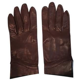Hermes Vintage Burgundy Leather Gloves