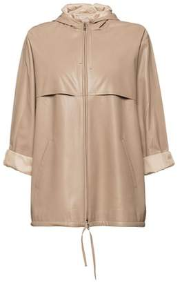 Prada Hooded Nappa Leather Jacket