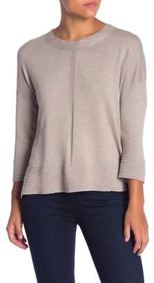 Cyrus 3/4 Sleeve Knit Hi-Lo Sweater
