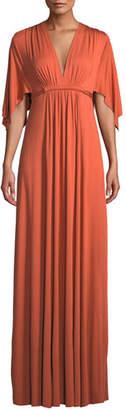 Rachel Pally V-Neck Kimono-Sleeve Empire-Waist A-Line Long Caftan Dress, Plus Size