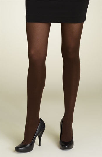 DKNY '412' Control Top Opaque Tights Chocolate Medium
