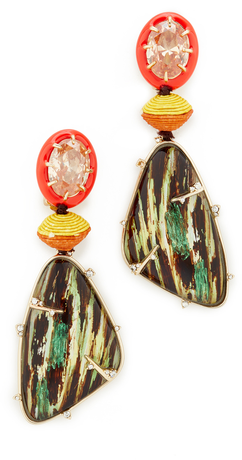 Alexis Bittar Alexis Bittar Dangling Woodgrain Earrings