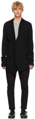 Isabel Benenato Black Virgin Wool Cardigan