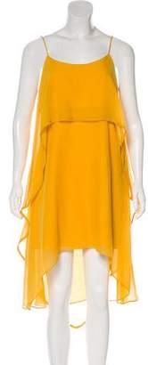 Halston Layered Midi Dress w/ Tags