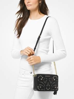 8a08baabda01 Michael Michael Kors Ginny Stud Leather Crossbody Bag - ShopStyle