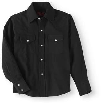 Plains Boys' Long Sleeve Button Front Western Shirt