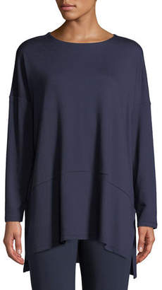 Eileen Fisher Plus Size Oversized Terry Cloth Layered Tunic