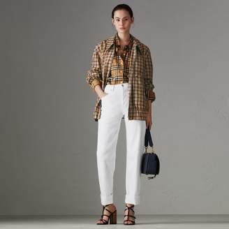 Burberry Straight Fit Power-stretch Denim Jeans , Size: 27