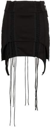 Helmut Lang Aviator Asymmetric Mini-Skirt