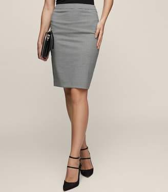 Reiss Mason Skirt Houndstooth Pencil Skirt