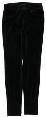 J Brand Velvet Mid-Rise Skinny Pants