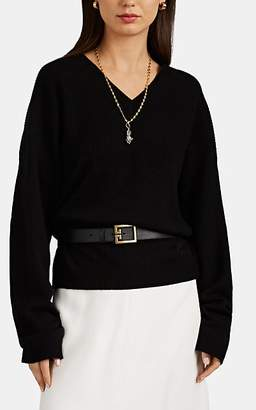 Givenchy Women's Mixed-Stitch Cashmere V-Neck Sweater - Black