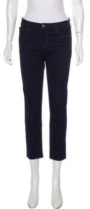 J Brand Petite Mid-Rise Straight-Leg Jeans