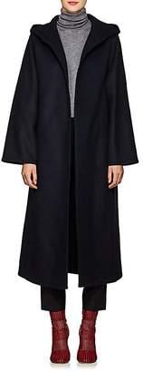 A PLAN APPLICATION Women's Wool Open-Front Hooded Coat