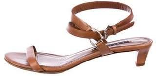 Ralph Lauren Purple Label Leather Ankle-Strap Sandals