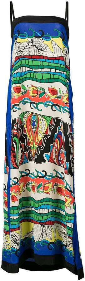 Warm printed column shift dress