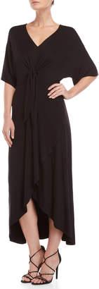 Lush Black Knotted Maxi Dress