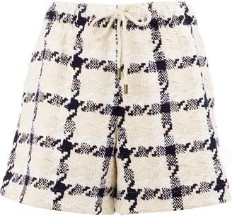 Monse tweed check shorts