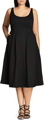 City Chic Classic Longline Dress $89 thestylecure.com