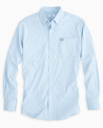 Southern Tide Gameday Gingham Intercoastal Performance Shirt - University of North Carolina at Chapel Hill