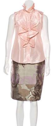 Oscar de la Renta Spring 2009 Silk Knee-Length Skirt Set
