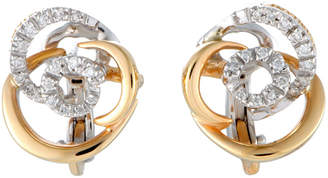 Damiani 18K Two-Tone 0.18 Ct. Tw. Diamond Earrings
