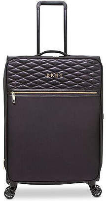 """DKNY Allure 25"""" Quilted Softside Spinner Suitcase"""