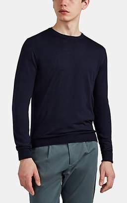 5d7dc227 Eleventy Men's Wool-Silk Long-Sleeve Top - Navy