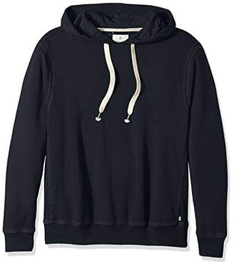 True Grit Men's Cotton Washed Heather Fleece Pullovers with Stitch Details Grey Hoodie