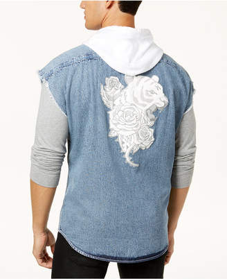 INC International Concepts I.N.C. Men's Tiger Hoodie Vest, Created for Macy's