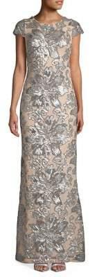 Calvin Klein Sequin-Embellished Gown