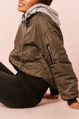 Forever 21 Hooded Bomber Jacket