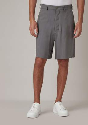 Giorgio Armani Washed Cupro Natte Bermuda Shorts