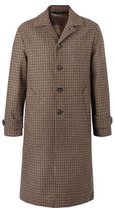 Officine Generale Serge Puppytooth Wool Coat