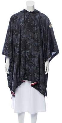 Moncler Printed Hooded Poncho multicolor Printed Hooded Poncho