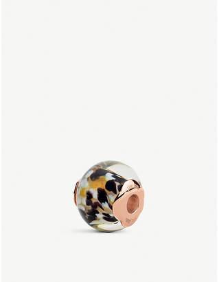 Folli Follie Playful Emotions Rebel Riviera rose-gold plated glass charm