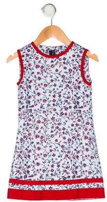 Oscar de la Renta Girls' Floral Print Dress