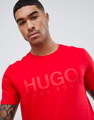 HUGO large logo t-shirt in red