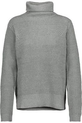 Joie Kajetan Metallic Ribbed Wool-Blend Turtleneck Sweater