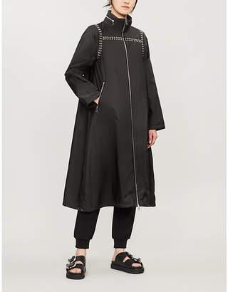 Moncler Genius x Noir Kei Nimomiya pierced-trim shell coat
