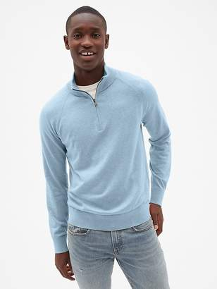 Gap Half-Zip Mockneck Pullover Sweater
