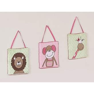 JoJo Designs Pink and Green Jungle Friends Wall Hanging Accessories by Sweet