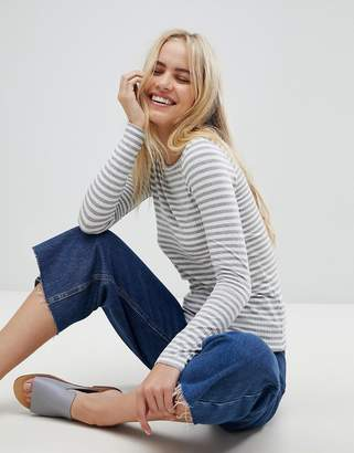 Pieces Raya Striped Long Sleeved T-Shirt