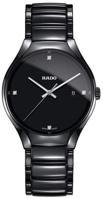 Rado True Diamond Ceramic Bracelet Watch, 40mm