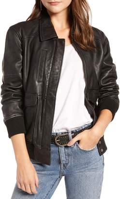 Treasure & Bond Leather Aviator Jacket